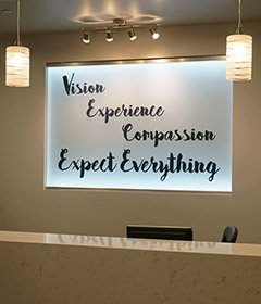 Vision exprience compassion expect everything sign