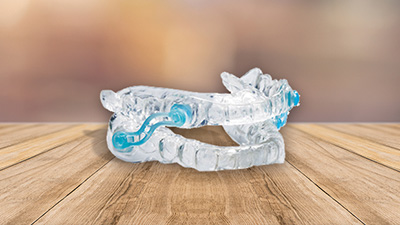 Custom clear oral appliance